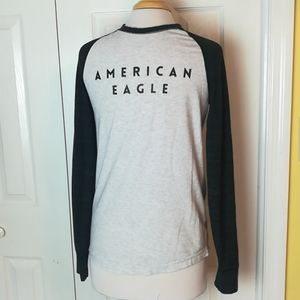 4/$20 American Eagle Spell Out Baseball Tee Size S